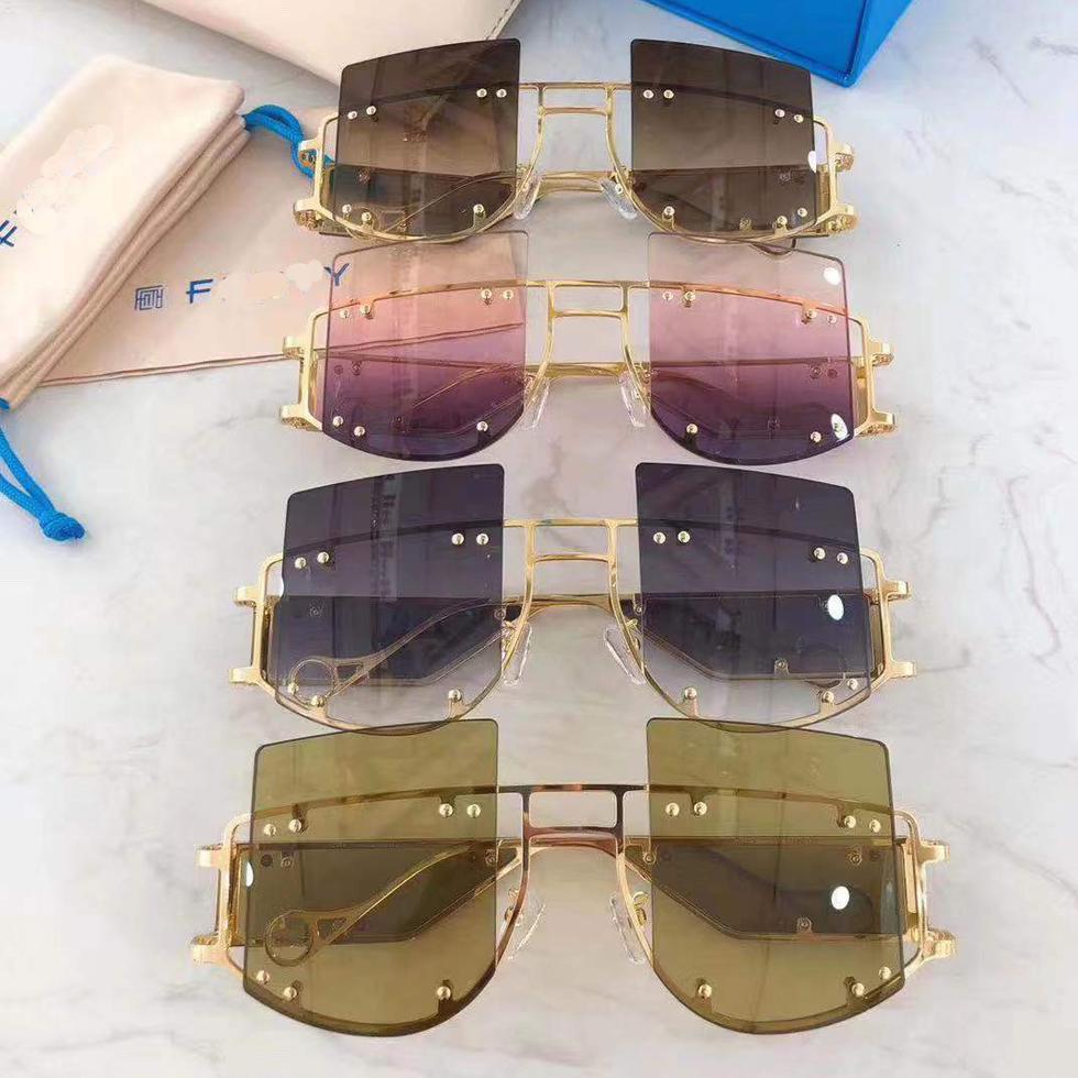 2019 Oversized fashion brand polarized sunglasses, female women decoration big size sun glass sunglasses