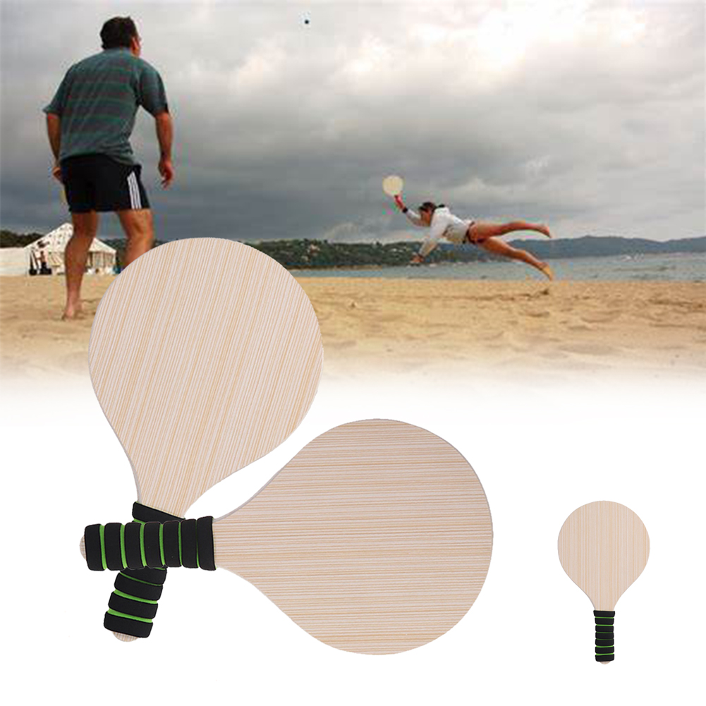 Beach Ball Raquet Ball Paddle Badminton PLAY PADDLE  Game Picnic Park Pool PAIR