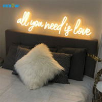 Drop Shipping All you need is love wedding neon sign 12V led 3d letter led acrylic neon rope light custom made neon acrylic sign