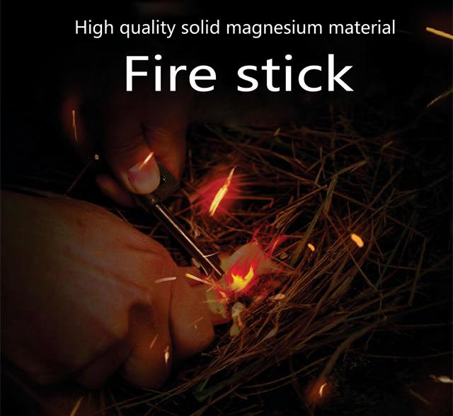 ฉุกเฉินFerrocerium Flintแมกนีเซียมไฟฟ้าFerro Rod Fire Starter
