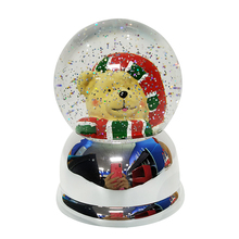 Bal Sneeuw Souvenir Populaire Kinderen Gift Animal Parijs Globe China <span class=keywords><strong>Glitter</strong></span> Lantaarn Swirl Dome Roterende <span class=keywords><strong>Wereld</strong></span> Led Water Globe