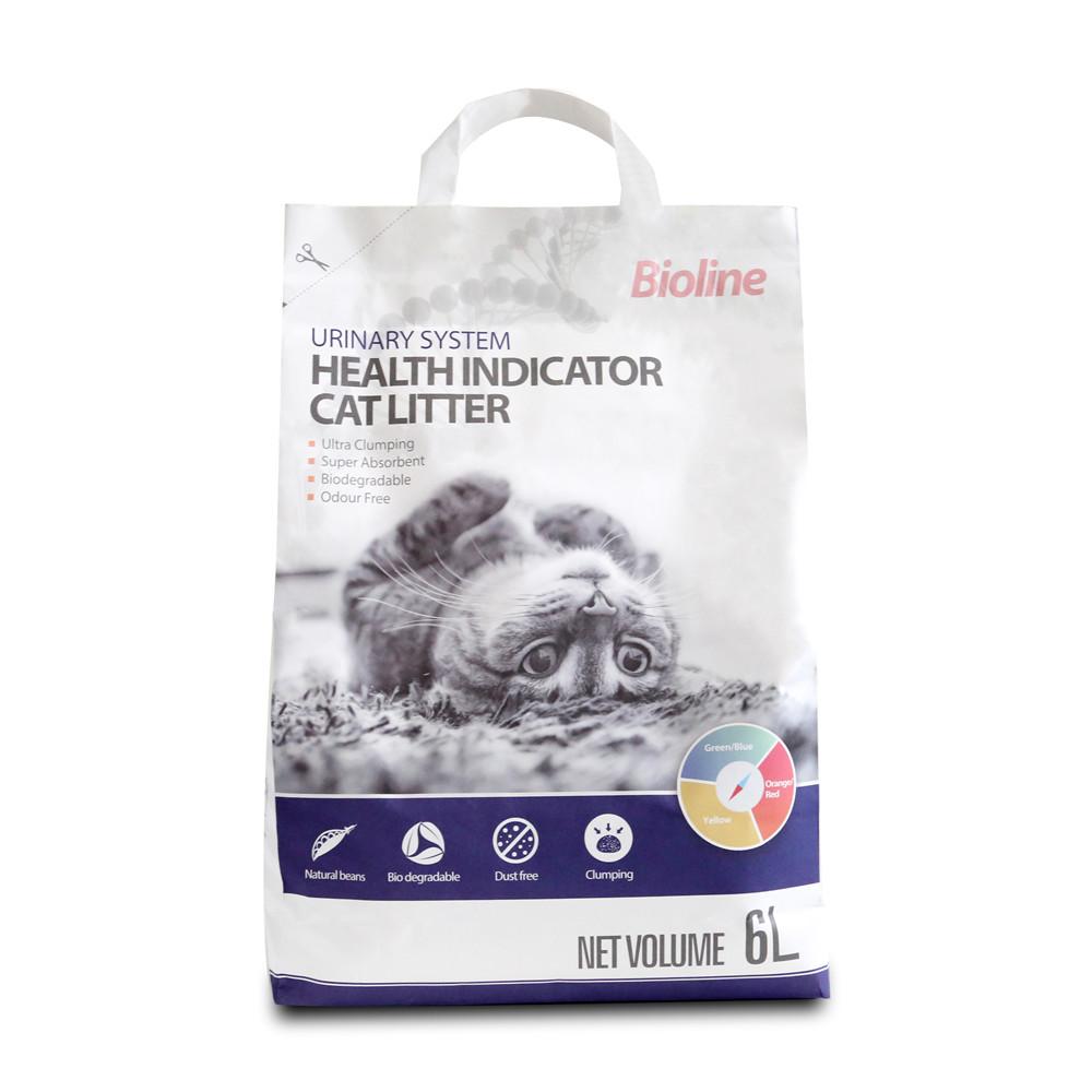 Nuovo Stile Pet Prodotti Per La Salute di Alta Capacità di Assorbimento Impianto Degradabile Gatto Lettiera Per Urinario Salute Indicatori