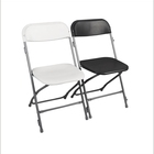 commercial seating black poly plastic folding chair