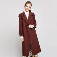 Chinese hot cheap prefabricated long women toppies trench coat winter