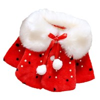 Wholesale baby girl winter clothes kids winter plush wave point coat children clothes