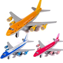 Legierung Diecast Air Force One Flugzeug <span class=keywords><strong>Airbus</strong></span> Transport Container Lkw Pull Zurück Action Licht & Sound Flugzeug Modell Kinder Hobby <span class=keywords><strong>spielzeug</strong></span>