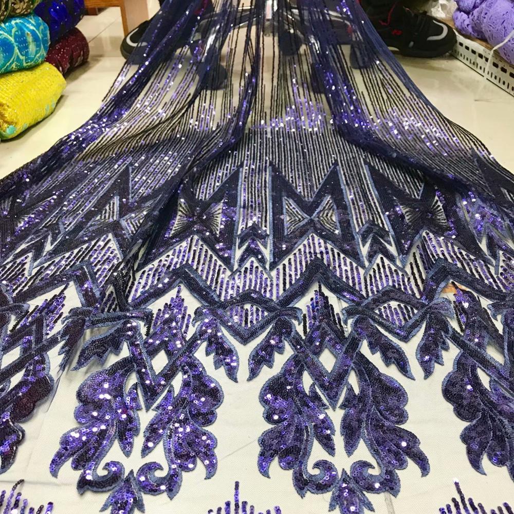 Top End Mewah Manik-manik Kain Payet Tulle Bahasa Perancis Bunga Voile Lace Fabric