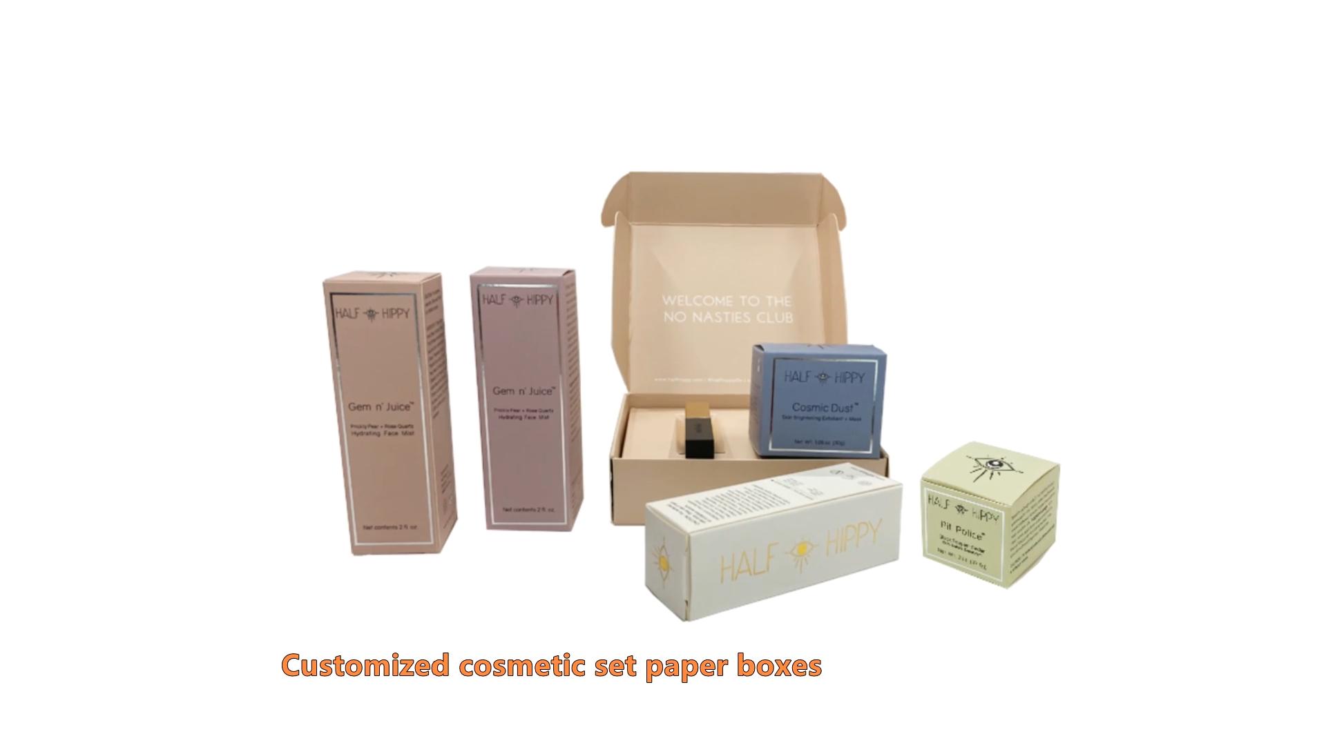 Großhandel Oem Personifizierte Kosmetische Make-Up Schönheit Hautpflege Parfüm Papier Verpackung kosmetische paket box