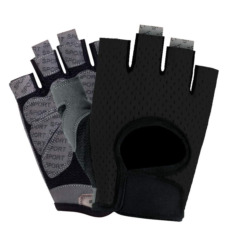 Hampool Customized Sport Weight Lifting Half-finger Handhand Fitness Gym Gloves
