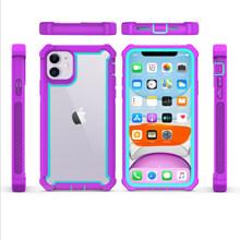 Чехол для iPhone 11 Pro XS Max XR 6 6S 7 8 Plus, усиленная защита, противоударный чехол из ПК + ТПУ, бесплатная доставка, закаленное стекло(Китай)