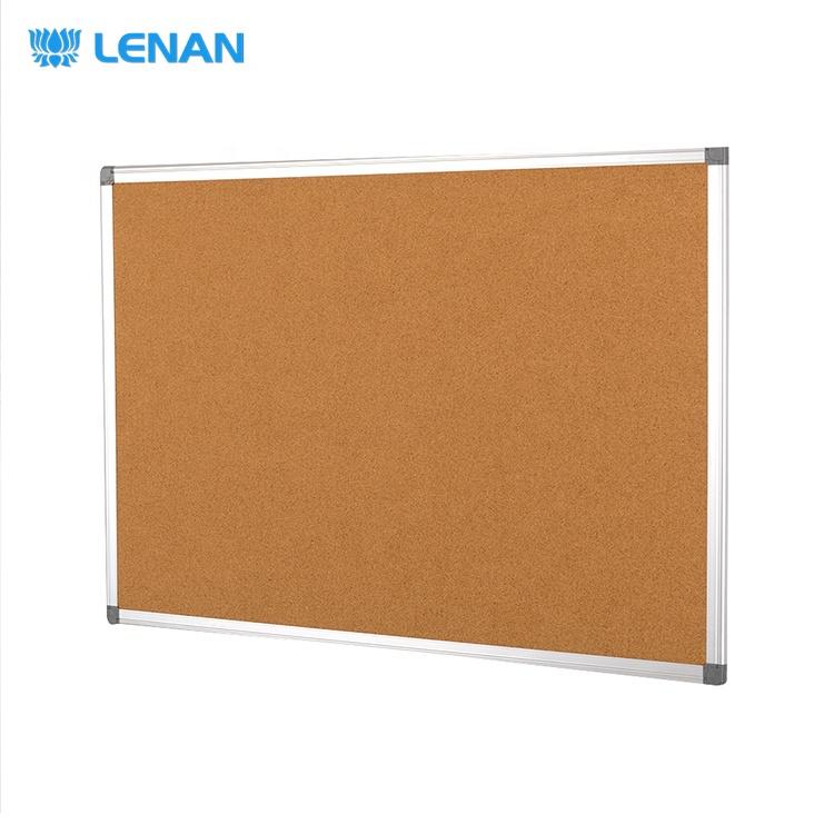 Multi Size No Magnetic Cork Material Aluminum Frame Decorative Message Board Notice Bulletin Cork Board - Yola WhiteBoard   szyola.net