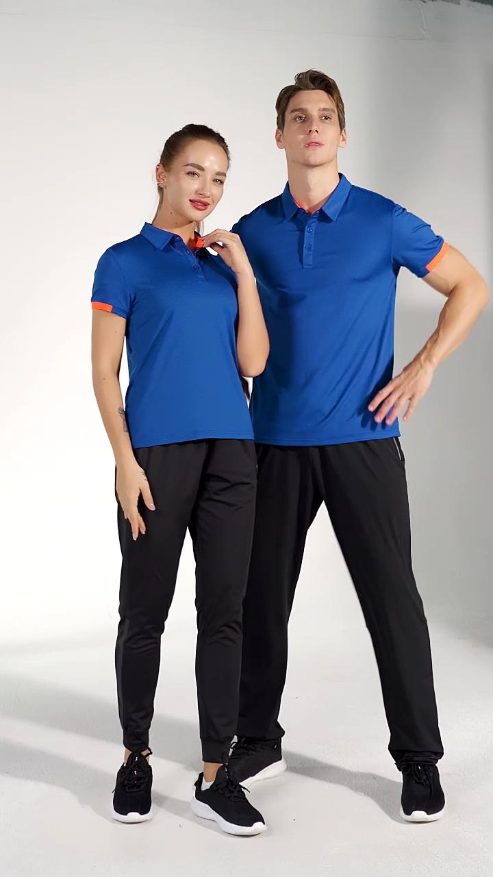 Hot Sell Summer Fashion Polo T Shirt Custom OEM Cheap Blue Polo Golf T-shirts