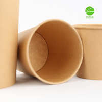 Paper Bowl With Lids Biodegradable PLA Lining Disposable Paper Bowl