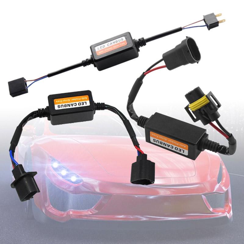 HID 안개 자동차 LED canbus 부하 저항 Canbus 디코더 H1 H4 H7 H8 H9 9008/H13 9005/HB3/HB4 9004 오류 무료 경고 취소