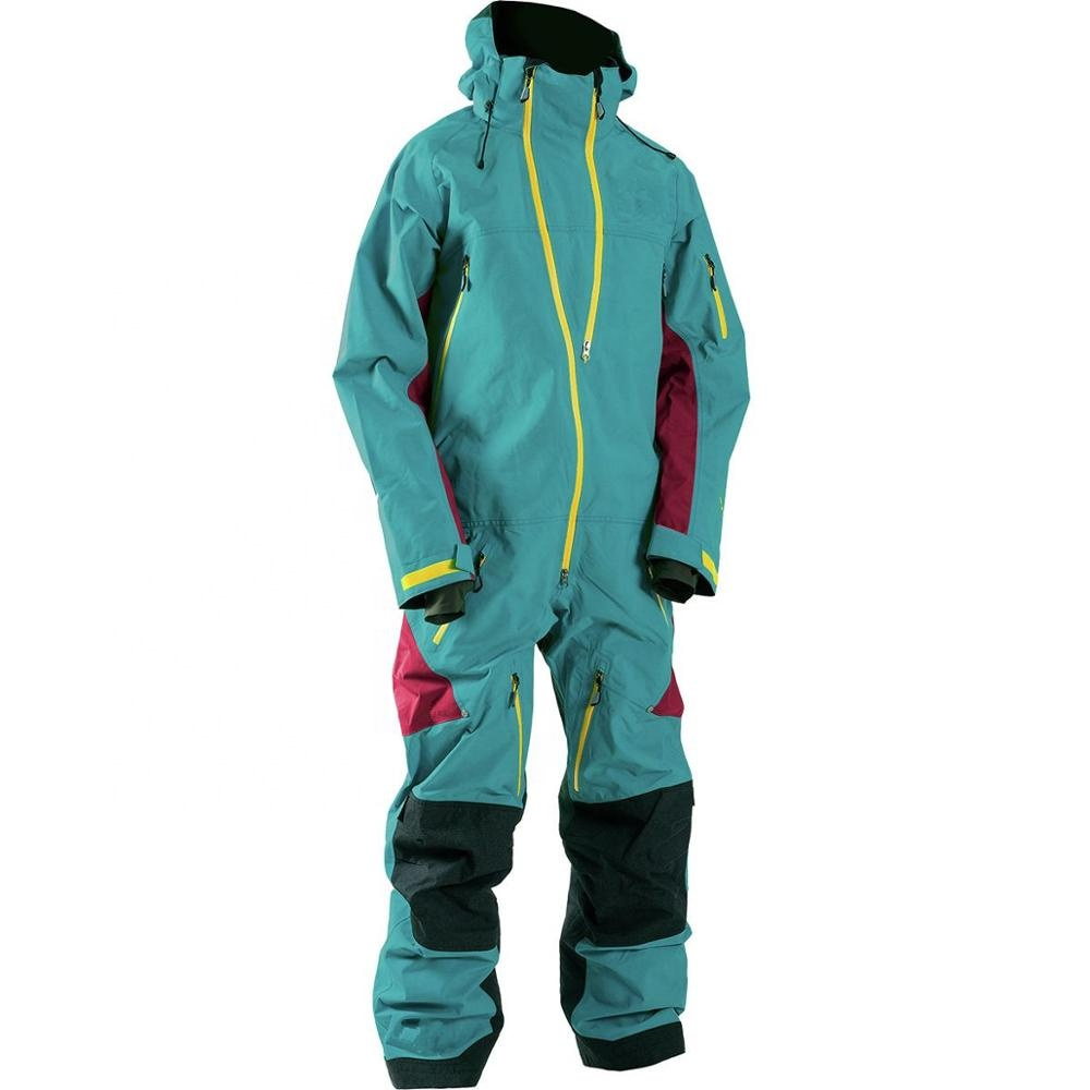 Fashionable Womens Snowsuit Winter Outdoor Sports One Piece Snow Suit for Skiing Snowboarding