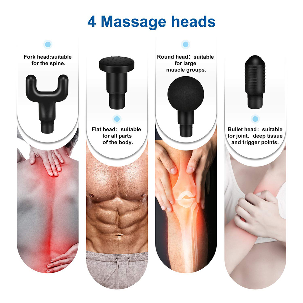 Body Massager Gun Deep Pressure Relieve As Seen on TV Massage Gun Cordless Private Label Gym Body Muscle Therapy Massage Gun
