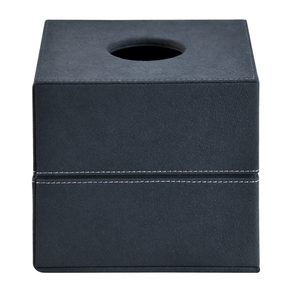 Custom simple style leather office home hotel desktop tissue box