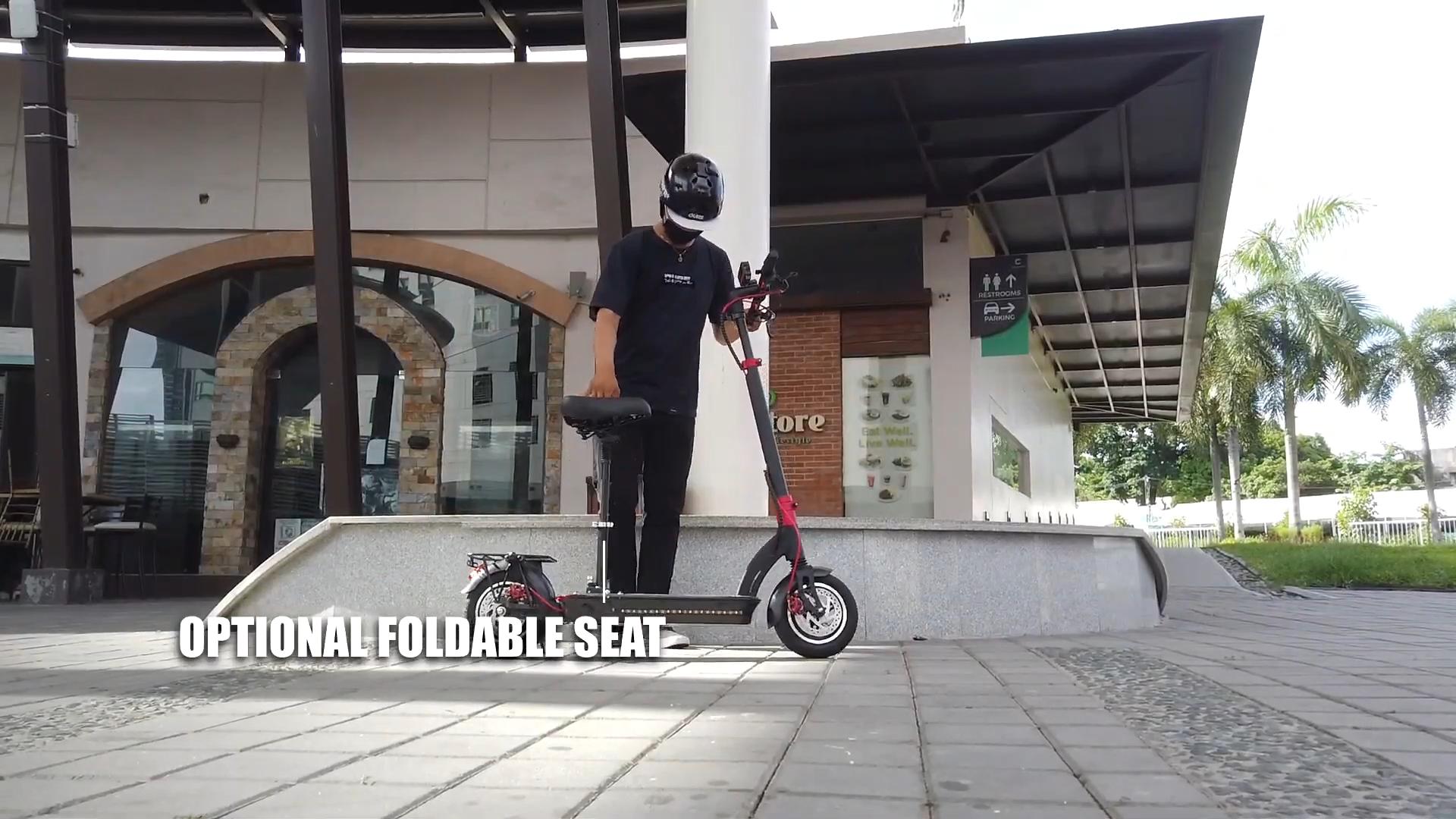 Aerlang 10 Polegadas Dobrável Scooter Elétrico Com Assento