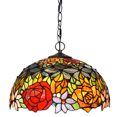 Contemporary 2020 Wholesale Handmade Tifany Stained Glass Chandelier for Restaurant&Home Decor Tiffany Lamps Pendant