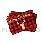 Wholesale Cheap Heat Resistant Washable Christmas Printed Table Place Mats