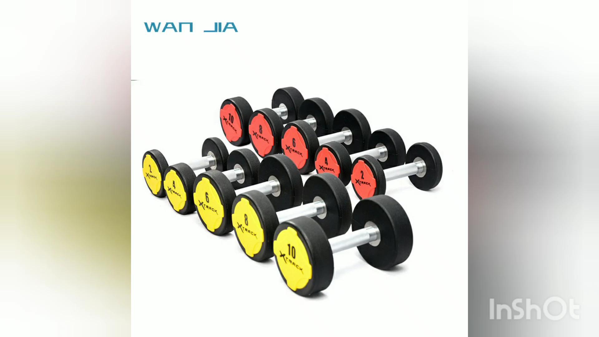Profesyonel ticari spor salonu ağırlık dambıl seti satılık ucuz dambıl setleri 2.5kg-50kg PU malzeme