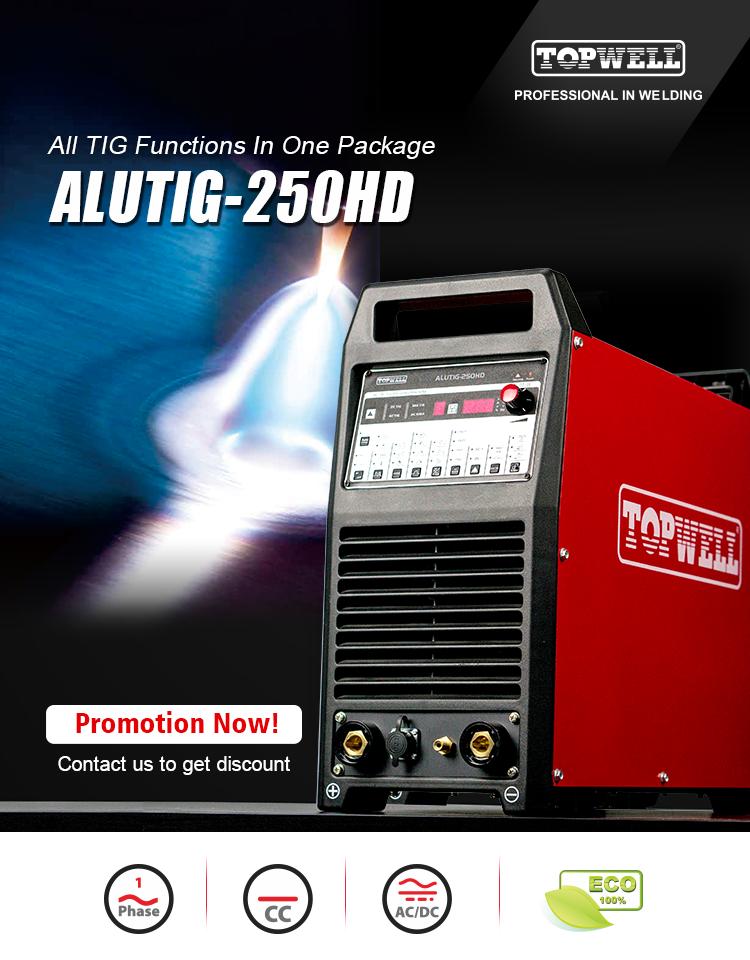 Jeunesse jouvence beaute 220 V AC/DC de aluminio máquina de soldadura TIG ALUTIG-250HD