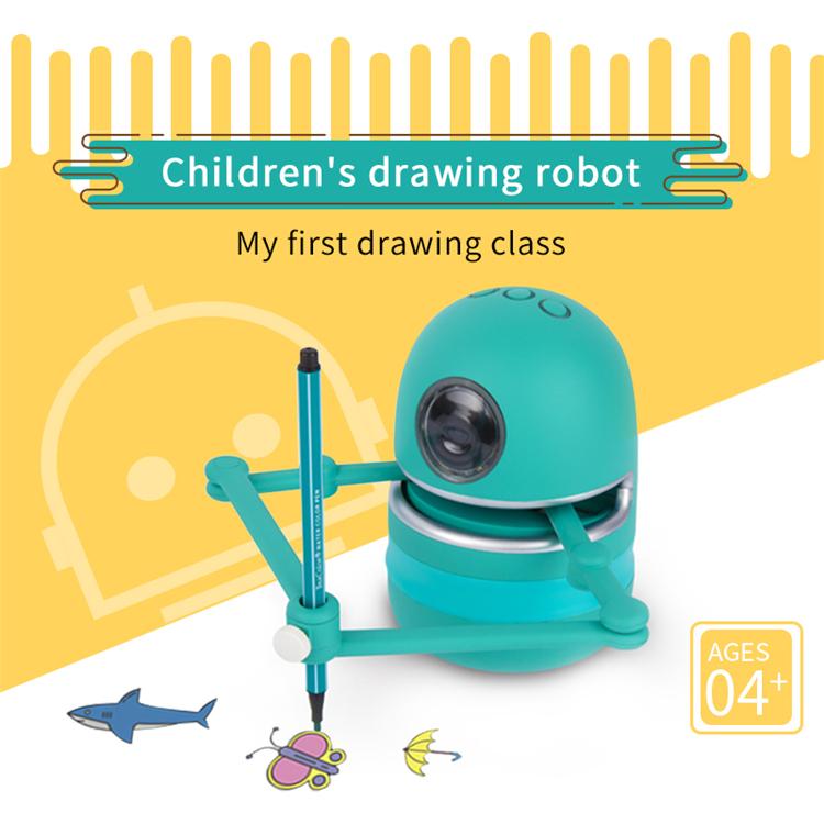 핫 세일 퀸시: 드로잉 로봇 증기 교육 로봇 장난감 학습 알파벳 맞춤법 수학