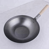 Carbon Steel Induction Flat Bottom Woks with wooden handle