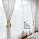 amazon hot sale latest curtain designs white jacquard curtain string curtain