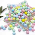 12mm BPA Free Food Grade Loose Soft Round Baby Teething Silicone Beads for Necklace Making