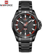NAVIFORCE люксовый бренд, мужские спортивные черные часы из нержавеющей стали, мужские кварцевые часы, мужские водонепроницаемые наручные часы,...(Китай)