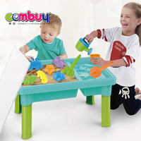 Outdoor summer game 2 in 1 water play plastic sand beach table toys