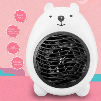 Best 220V Desktop Electric Mini Heater Fast Heating Portable Adjustable Thermostat Fan Heater for Room Office Winter