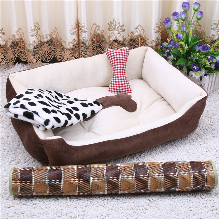 wholesale Factory washable cheap square warm dog bed Wear resistant Bite resistance luxury custom dog house cat bed pet bed