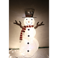Hot Sale Stretchable Christmas Snowman Decoration With Led Flashing Lights Outdoor Lights