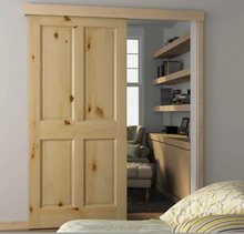 Pine Wood Hidden Rail Sliding Door Hardware Modern Wood Barn Door Hardware