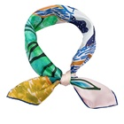 Custom Design Handkerchief Multi Colors Hand Paint Silk Scarf with Logo