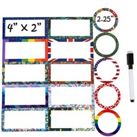 Reusable Magnetic Dry Erase Labels Name Plates Effective on Schedule Board Lockers Fridge and Classroom Behavior Chart