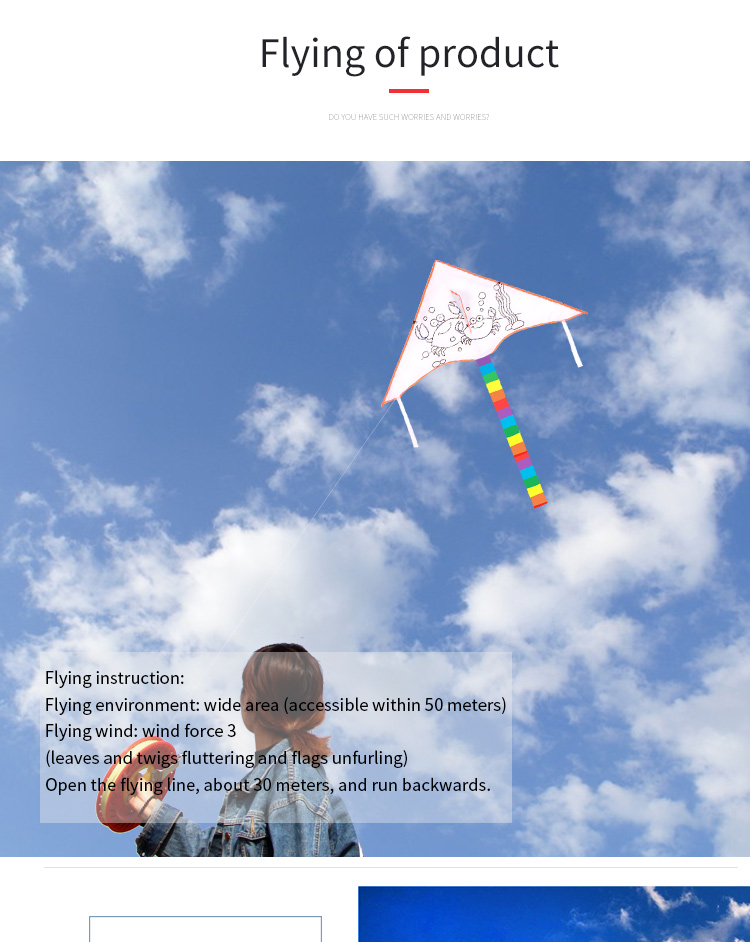 wholesale good reputation  child flying blank  diy kid kite   for children