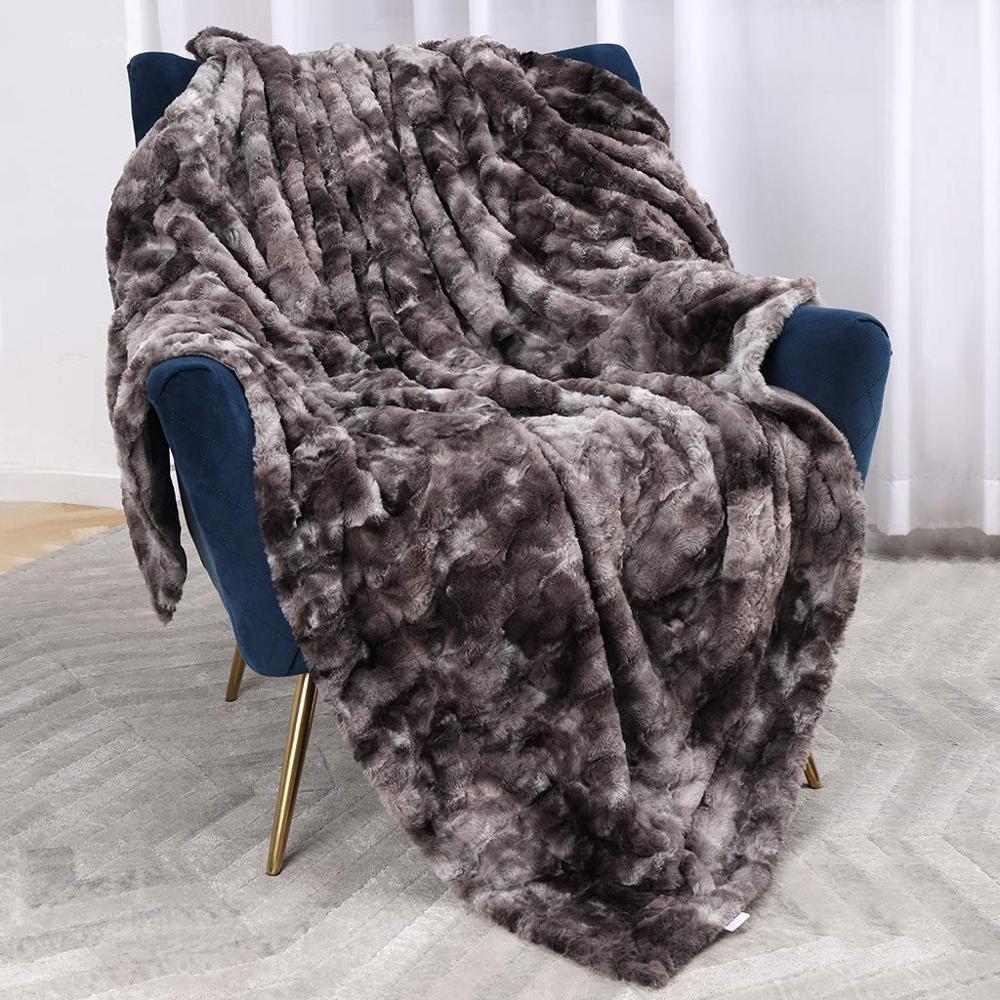 ขายส่งใหม่รูปแบบ faux lamb FUR Sherpa ผ้าพันคอโยนผ้าห่ม