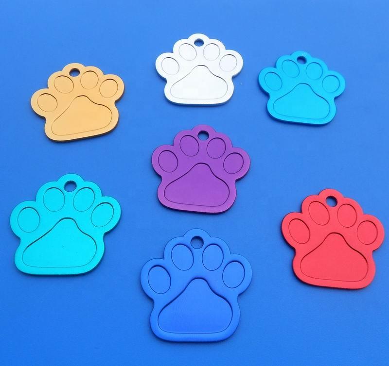 निजीकृत पालतू जानवर के लिए मुद्रण लोगो के साथ कुत्ते टैग