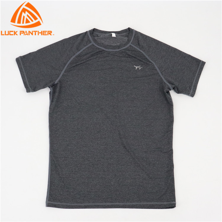 LuckPanther high quality men gym  t shirt cotton short sleeves top