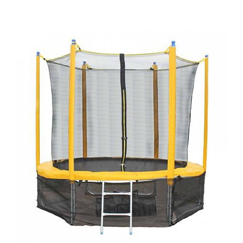 Sundow ใหม่ราคาถูกขายส่ง trampoline,การออกกำลังกายแบบพกพา 8FT กระโดด Fitness trampoline ความปลอดภัยสุทธิ