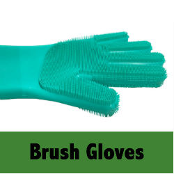 High Quality Double Sided Magic Silicone Sponge Gloves Scrubber Dish Washing Gloves for Cleaning