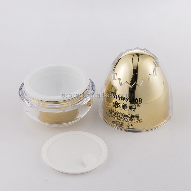 Skin Care Cream Use Empty Egg Shaped Facial Cream Jar 30g