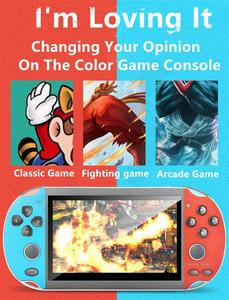 Best looking Portable Handheld Game Console 4.3 inch Color Screen 8GB with 1000 free classic game support 8/16/32/128 bit games