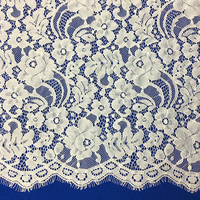 nylon white bridal lace fabric for wedding dress