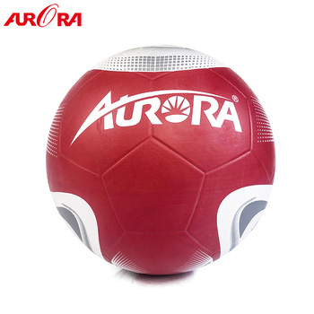 high quality custom red-white rubber football ball size 5 soccer training ball