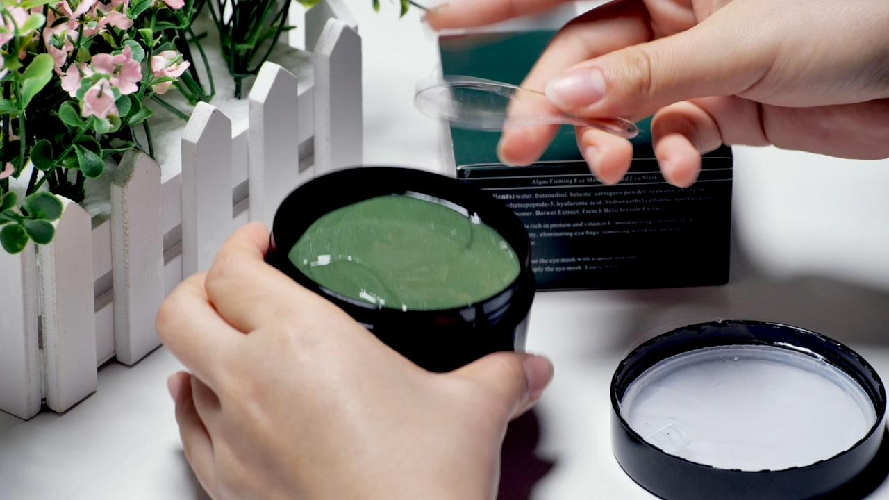 Entfernen Dunkle Kreis algen Kollagen Kristall augen maske gel Pads hydrogel kraut unter auge patchs korea