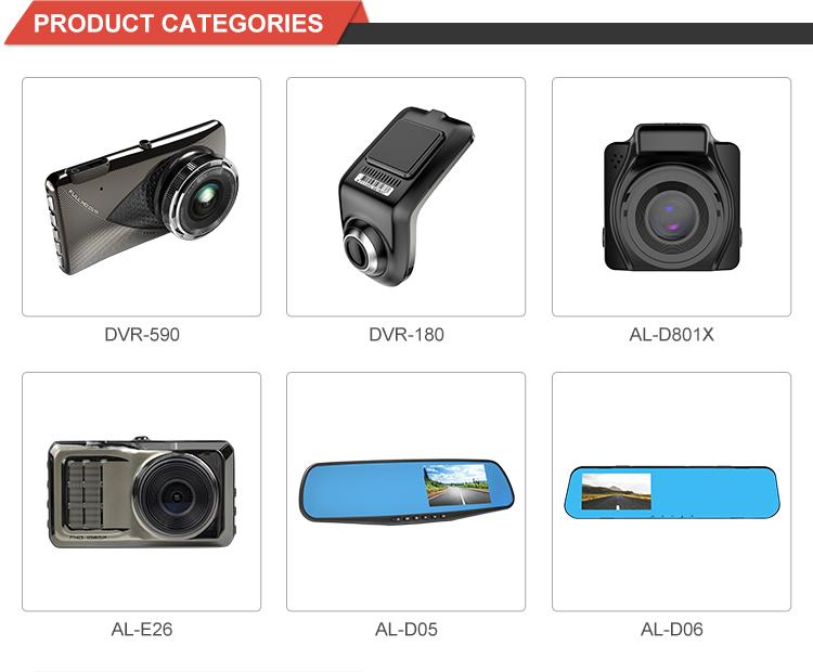 Full hd 1080p  camera dash cam 170 degree loop recording channel 2 camera car dvr